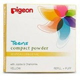PIGEON Refill Compact Powder Hypoallergenic 14gr [PR080230] - Yellow - Make-Up Powder